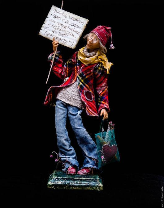 Коллекционные куклы ручной работы. Ярмарка Мастеров - ручная работа. Купить Холодало...)). Handmade. Комбинированный, интерьерная кукла
