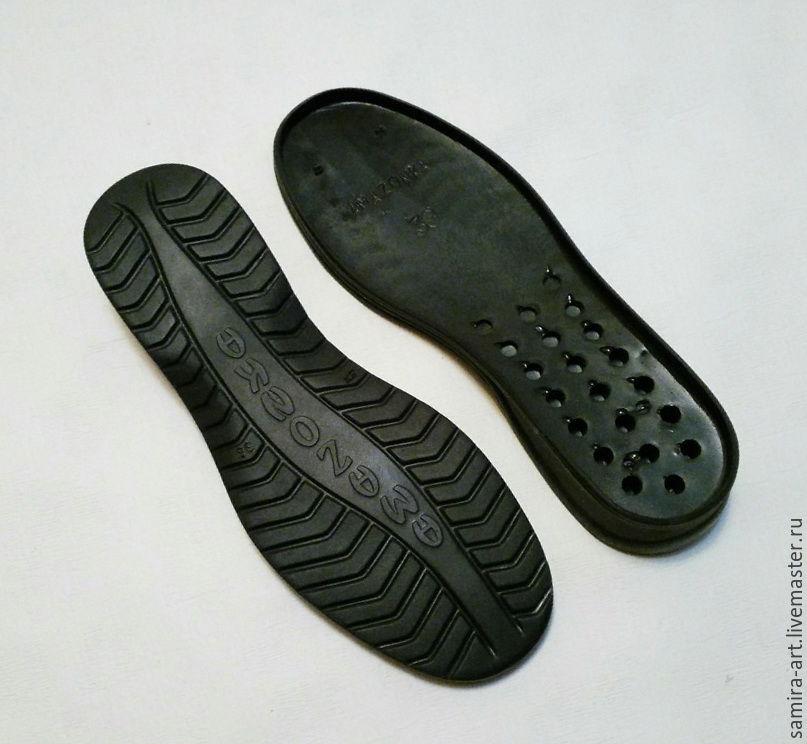 """Валяние ручной работы. Ярмарка Мастеров - ручная работа. Купить Подошва для обуви """"AMAZONKA"""". Handmade. Черный, обувь для улицы"""