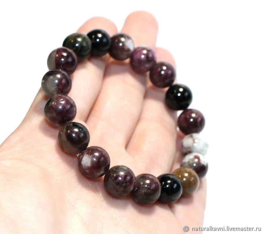 Natural tourmaline bracelet for men / women, Bead bracelet, Moscow,  Фото №1