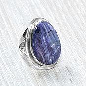 handmade. Livemaster - original item Charoite (ring) (960). Handmade.