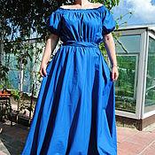 Одежда ручной работы. Ярмарка Мастеров - ручная работа Платье с открытыми плечами. Handmade.