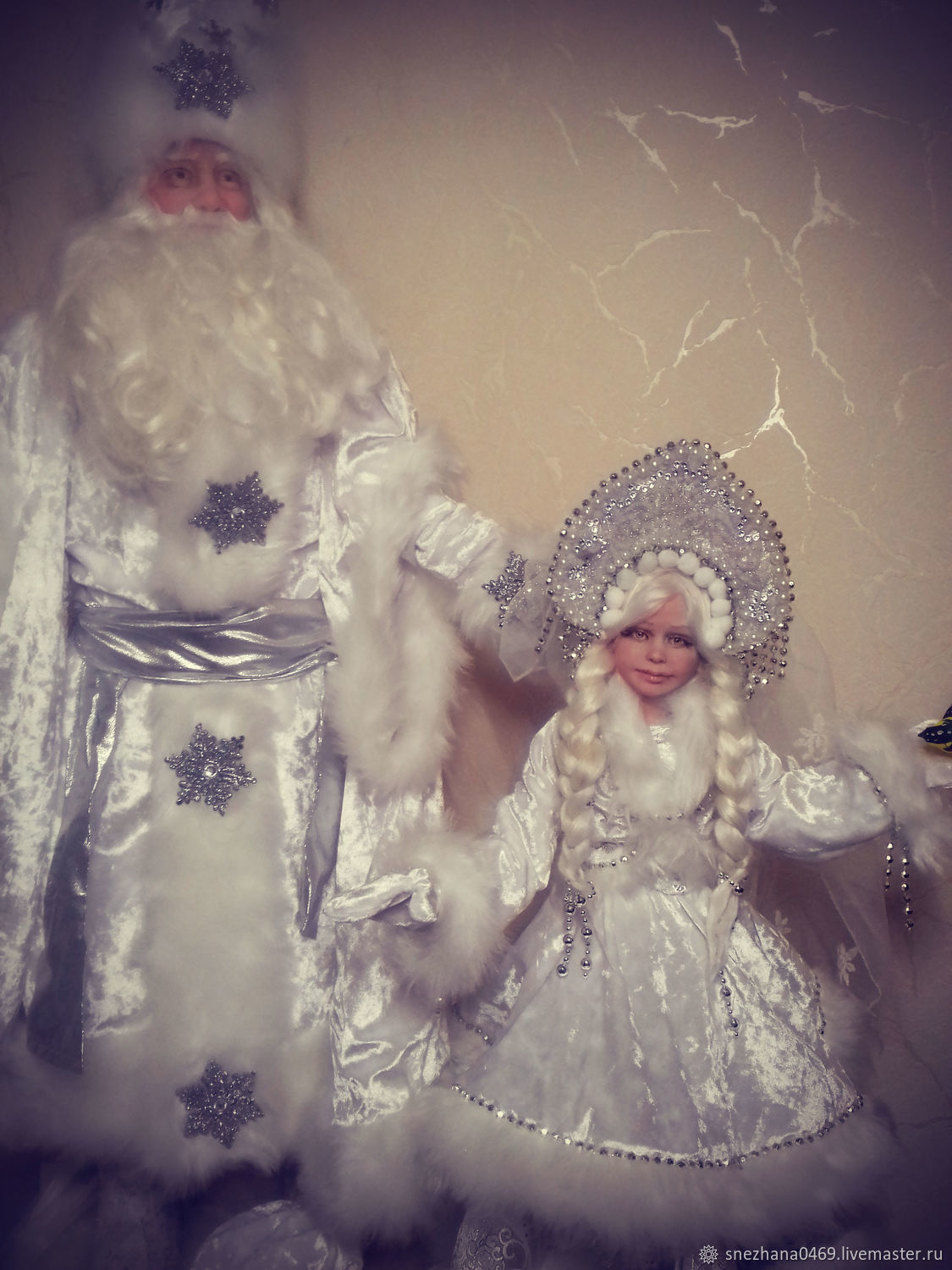 Santa Claus and granddaughter snow maiden, Dolls, Settlement,  Фото №1