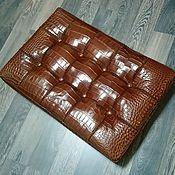 Для дома и интерьера handmade. Livemaster - original item Puffin made of genuine crocodile leather and genuine leather, custom made!. Handmade.