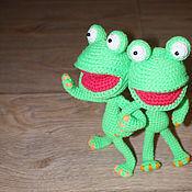 Куклы и игрушки ручной работы. Ярмарка Мастеров - ручная работа Зелёная лягушка. Handmade.