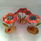 Для дома и интерьера handmade. Livemaster - original item Flower from natural Ural ornamental stone Selenite. Handmade.