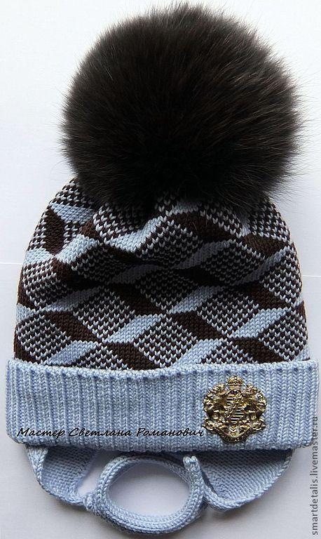 Шапки и шарфы ручной работы. Ярмарка Мастеров - ручная работа. Купить Двойная зимняя шапочка из мериносовой шерсти для мальчика. Handmade.