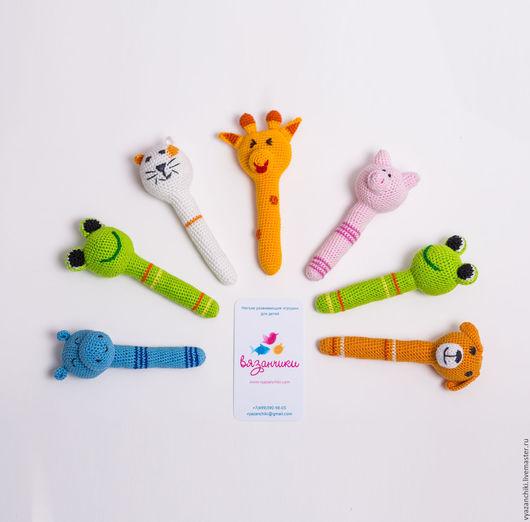 Развивающие игрушки ручной работы. Ярмарка Мастеров - ручная работа. Купить Погремушка. Handmade. Комбинированный, 100% хлопок