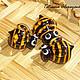 Для украшений ручной работы. Ярмарка Мастеров - ручная работа. Купить Пчёлы. Handmade. Оранжевый, авторский лэмпворк, бусина, пчела
