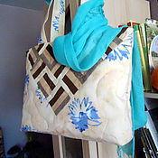 """Сумки и аксессуары ручной работы. Ярмарка Мастеров - ручная работа лоскутная сумка """" Евдокия"""", подарок на день рождения. Handmade."""