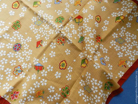 Винтажная одежда и аксессуары. Ярмарка Мастеров - ручная работа. Купить Винтажный платок, хлопок. Handmade. Комбинированный, винтаж
