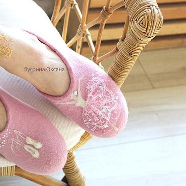 """Обувь ручной работы. Ярмарка Мастеров - ручная работа """"Балет"""" авторские балетки валяные 36-37 размера. Handmade."""