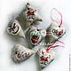 Order New year's interior pendant. Textile toys. GALAtoys. Livemaster. . Christmas decorations Фото №3