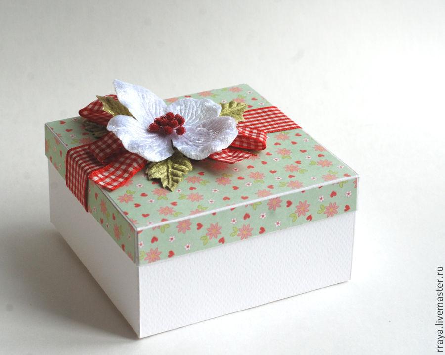 Подарочная коробка из открытки, открытку днем рождения