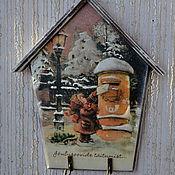 """Для дома и интерьера ручной работы. Ярмарка Мастеров - ручная работа ключница """"письмо"""". Handmade."""