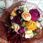 Цветы и флористика ручной работы. Ярмарка Мастеров - ручная работа Мини-букеты в осенних тонах. Handmade.