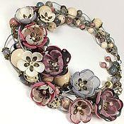 Украшения handmade. Livemaster - original item Morning Souffle. Necklace, earrings, removable floral decor. kit. Handmade.