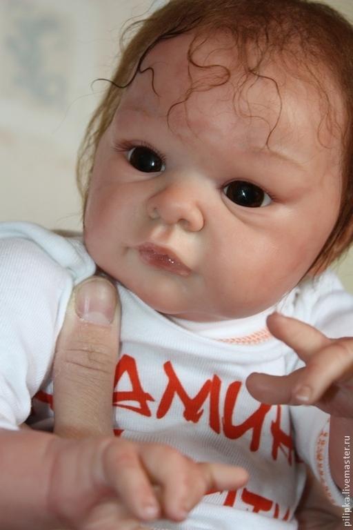 Куклы-младенцы и reborn ручной работы. Ярмарка Мастеров - ручная работа. Купить Сестрички. Молд Джилл.. Handmade. Золотой, текстиль