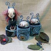 Куклы и игрушки ручной работы. Ярмарка Мастеров - ручная работа Зимние мотыльки. Handmade.