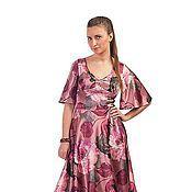 Одежда handmade. Livemaster - original item dress with flowers - pink. Handmade.