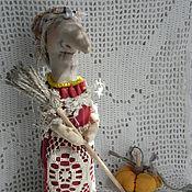 Куклы и игрушки ручной работы. Ярмарка Мастеров - ручная работа Бабка -ёжка. Ягуля винтажная модница.. Handmade.