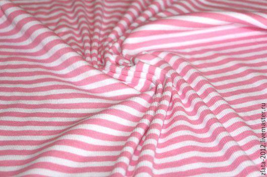 """Шитье ручной работы. Ярмарка Мастеров - ручная работа. Купить Трикотаж""""Розовые полосы"""". Handmade. Трикотаж, тильда, тильда принцесса"""