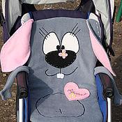 Куклы и игрушки ручной работы. Ярмарка Мастеров - ручная работа Матрасик Кролик, коврик, подстилка, в коляску. подарок новорожденному. Handmade.