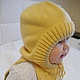 Для новорожденных, ручной работы. Ярмарка Мастеров - ручная работа. Купить Шапка шлем трансформер. Handmade. Шапка, шапка зимняя