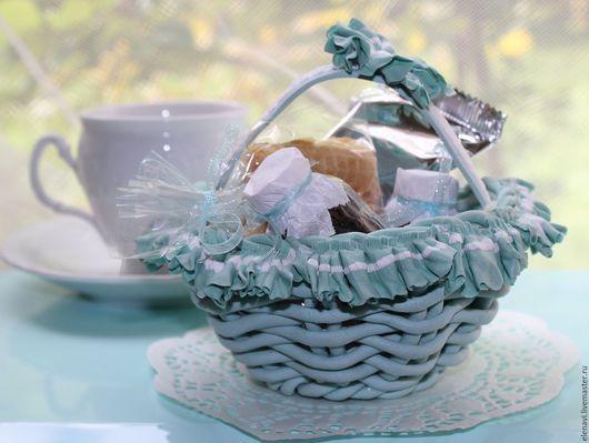 """Персональные подарки ручной работы. Ярмарка Мастеров - ручная работа. Купить """"Завтрак у Тиффани"""" или """"Нежное утро"""", корзиночка для завтрака. Handmade."""