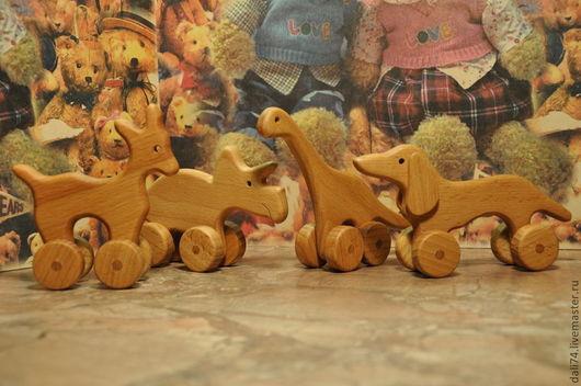 Игрушки животные, ручной работы. Ярмарка Мастеров - ручная работа. Купить Оленёнок (Серия ,,Зоопарк на колёсах,,). Handmade. Бежевый