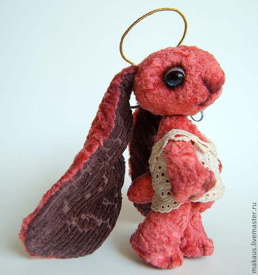 """Мишки Тедди ручной работы. Ярмарка Мастеров - ручная работа. Купить Заяц ангел   """"ЗайАнгел - Мальва"""". Handmade. Бледно-розовый"""