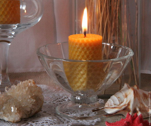 """Свечи ручной работы. Ярмарка Мастеров - ручная работа. Купить Восковая свеча """"бочечка"""". Handmade. Любовь, пчелиный воск, подарок"""