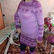 Одежда ручной работы. Ярмарка Мастеров - ручная работа зимний комплект (платье и гетры). Handmade.