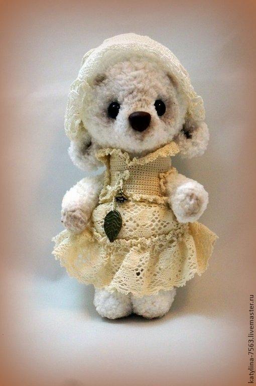 Мишки Тедди ручной работы. Ярмарка Мастеров - ручная работа. Купить Мишка Лили. Handmade. Белый, мишка девочка