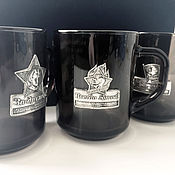 Gift Boxes handmade. Livemaster - original item Set of black mugs