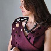"Украшения handmade. Livemaster - original item Necklace ""Armyur"". black porcelain, silver. Handmade."