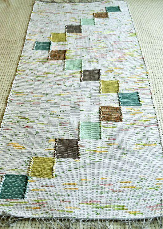 Текстиль, ковры ручной работы. Ярмарка Мастеров - ручная работа. Купить Половик ручного ткачества (№ 99). Handmade. Зеленый