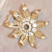 Винтаж handmade. Livemaster - original item Vintage Lisner floral brooch (USA), vintage 60s. Handmade.