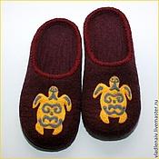 """Обувь ручной работы. Ярмарка Мастеров - ручная работа Тапочки  из шерсти """"Черепахи"""". Handmade."""