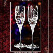 """Свадебный салон ручной работы. Ярмарка Мастеров - ручная работа Свадебные бокалы """"Bellezzo"""". Handmade."""