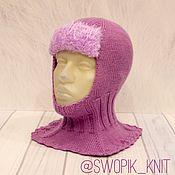 Аксессуары handmade. Livemaster - original item Hat winter hat for girls with fur visor. Handmade.