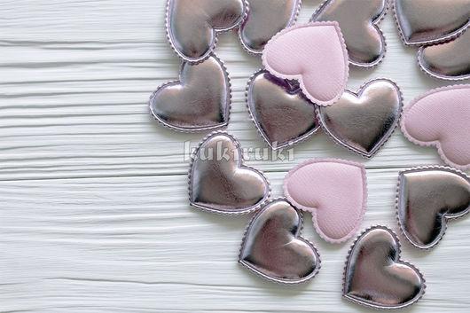 Шитье ручной работы. Ярмарка Мастеров - ручная работа. Купить Сердце из экокожи. Розовый. Handmade. Бледно-розовый, для повязок