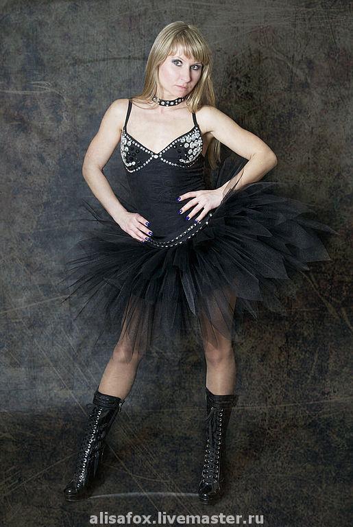 Взрослая юбка из Фатина,  детская юбка - пачка Черный лебедь 2200 руб