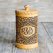 Русский стиль handmade. Livemaster - original item Birch bark box for tea