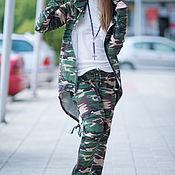 Одежда handmade. Livemaster - original item Camouflage set of cotton, jacket and pants - SE0716W2. Handmade.