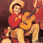 Картины и панно ручной работы. Ярмарка Мастеров - ручная работа Фотокартина мальчик с гитарой. Работа для примера. Handmade.