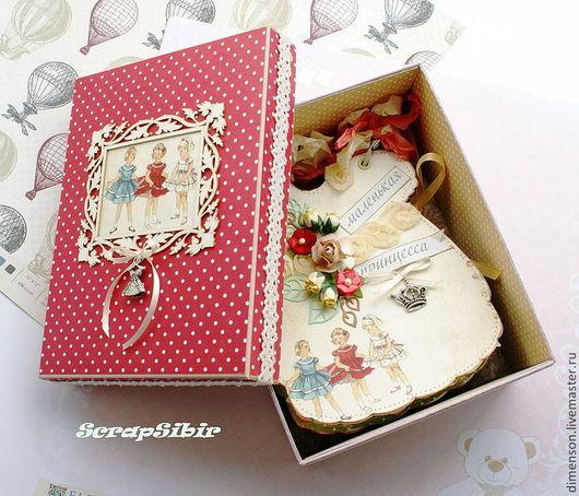 """Фотоальбомы ручной работы. Ярмарка Мастеров - ручная работа. Купить Коробка для альбома """"Маленькая принцесса"""". Handmade. Фотоальбом, коробка для фотографий"""