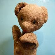 Винтаж ручной работы. Ярмарка Мастеров - ручная работа Советская перчаточная кукла медвежонок. Handmade.