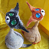 Мягкие игрушки ручной работы. Ярмарка Мастеров - ручная работа Сиамы. Handmade.