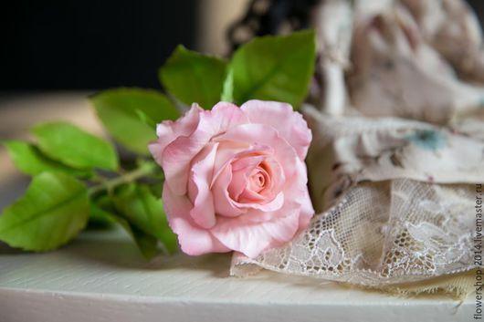 Цветы ручной работы. Ярмарка Мастеров - ручная работа. Купить Роза из холодного фарфора. Handmade. Цветы, ручной работы