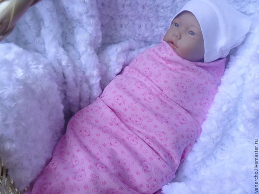 Для новорожденных, ручной работы. Ярмарка Мастеров - ручная работа. Купить Пеленка с мешочком для ног. Handmade. Розовый, конверт для новорожденных